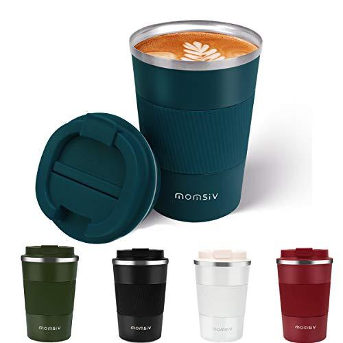 MOMSIV Tasse de café isolée,Mug Isotherme de...