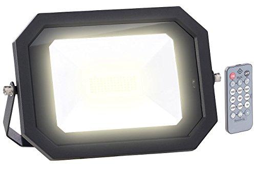 Luminea Aussenstrahler: Wetterfester LED-Fluter, Radar-Bewegungssensor, Fernbedienung, 60 W (LED Fluter mit Bewegungsmelder)