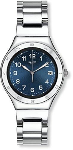 Swatch Reloj Digital de Cuarzo para Mujer con Correa de Acero Inoxidable – YGS474G