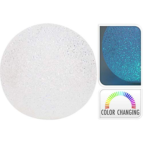 TronicXL 18cm Deko Kugel mit Farbwechsler Design Lampe Innen Wohnzimmer Schlafzimmer Tischlampe Dekoration Leuchte Beleuchtung warmweiß Tischleuchte Kugellampe rund Kugelleuchte farbig LED