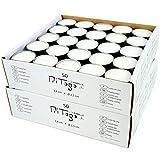 Pritogo Teelichter, Weiss [50 Stück] Ø 3,8 * 2,5 cm, Rußfrei, Brenndauer: 9 Stunden