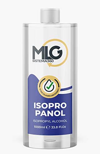 MLG SISTEMA 360 - Isopropílico 99,9% 1000ml | Alcohol IPA de Limpieza | Ideal para limpieza de componentes electrónicos 1 Litro