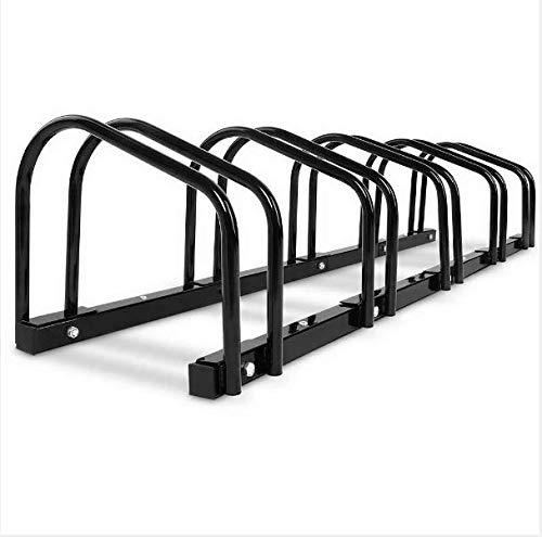 Photo of 2/3/4/5/6 Stainless Steel Bike Bicycle Free Standing Floor Rack Stand Holder Mount In Black (5)