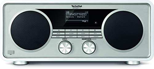 TechniSat DIGITRADIO 600 – Stereo Internetradio (DAB+, UKW, 70 Watt 2.1 System mit Subwoofer, Fernbedienung, CD-Player, USB, Bluetooth, AUX, WLAN, LAN, Radiowecker, Spotify Connect) weiß
