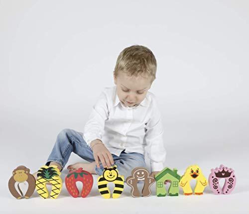 8er Pack Premium Klemmschutz für Türen | Türstopper |Einklemmschutz | Sicherheit und Schutz für Baby, Kinder und Tiere | extra dick und weich | aus hochwertigem Schaumstoff |