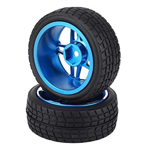 VGEBY1 2 Pezzi 1/10 RC Pneumatico, Pneumatico di Gomma del Camion del Camion del Telecomando per ZD Racing On-Road Car(Blu)