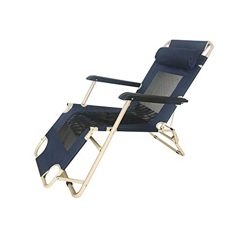 YQQ-Chaise pliante Bureau Heure du Déjeuner Fauteuil De Repos Petit Lit De Camp Tapis en Mesh Respirant 178 * 76 * 66CM