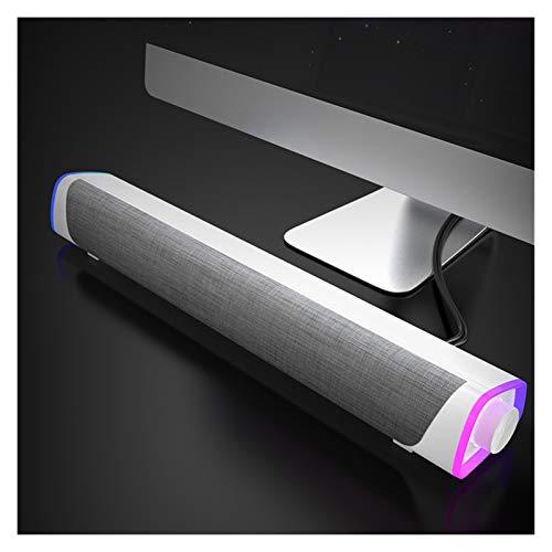 Release Altavoz informático Altavoces Bluetooth Bluetooth Columna Estéreo Bajo Barra de Sonido USB para PC Teléfono Teléfono Casa de Sandía de Sound (Size : Wired White)