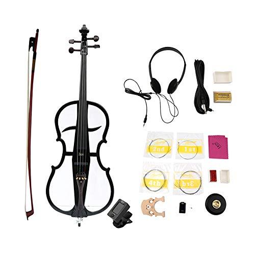Newgreeny Professional 4/4 - Violonchelo de madera maciza eléctrica