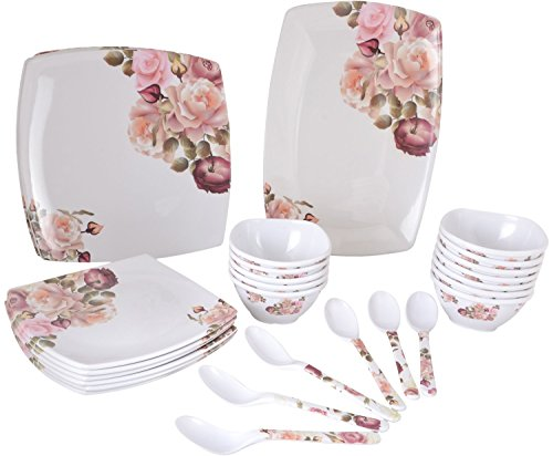 PAAKHI Dinner Set Flower Dinnerware Serving Set 40 Pieces