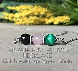Best black tourmaline and rose quartz necklace Reviews