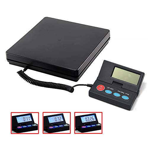 Digital Electric Heavy Duty Large Capacity Weighing Platform Scale for Postal Industrial Commercial Shop Kitchen Letter Parcels LuggageScales Black 50KG 110lb