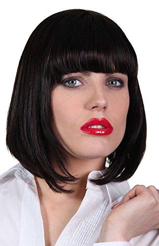 Womens Mia Wallace Wig Black Bob Wig For Mia Wallace Costume Import It All