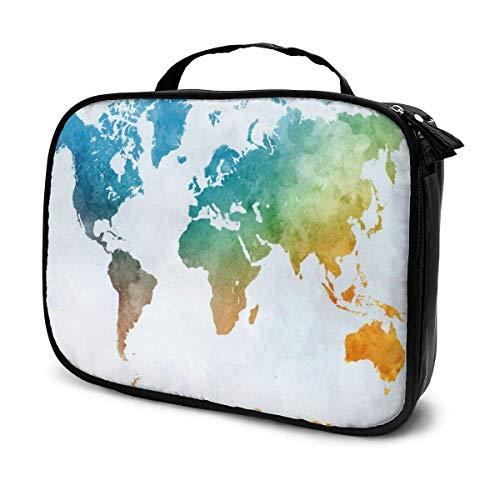 Organizador vintage de bolsa de maquillaje de viaje con gran capacidad, separadores extraíbles portátiles, caja de almacenamiento de tren de maquillaje, bolsa multiusos de regalo para niñas y mujeres