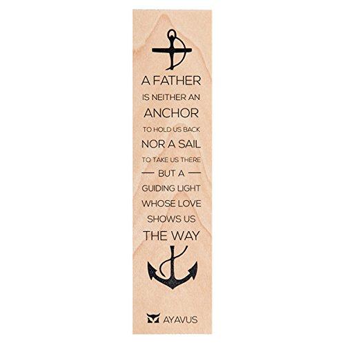 Un padre è un ancoraggio né a vela–idea regalo per la festa del papà Hunting Game of Thrones Anchor Sailing Nautical lettura regalo di compleanno citazione Made in USA