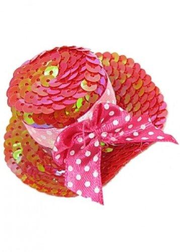 Mini Roue Rouge avec paillettes chapeau Nouvel An