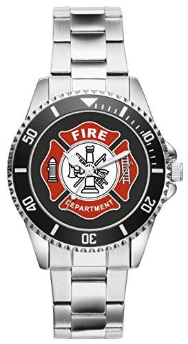 KIESENBERG - Feuerwehrmann Feuerwehr Geschenk Artikel Zubehör Uhr 1162