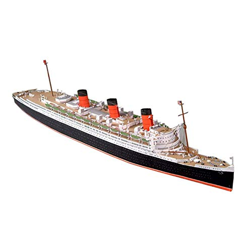 JHSHENGSHI Military Paper Puzzle Model Toys, 1/400 Scale UK RMS Queen Mary Cruise Ship Kids Toys And Gifts, 29Inch