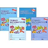 Singapore Primary Mathematics Level 4 Kit (U.S. Edition), Workbooks 4A and 4B, and Textbooks 4A and 4B