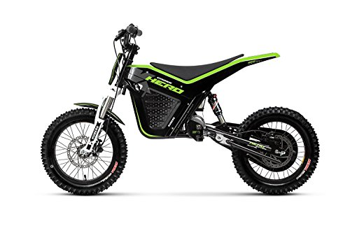 Kuberg Cross Hero Electric Dirt Bike - Bicicleta de cross para niños, color negro, talla M