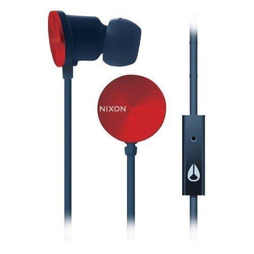 Nixon H0171188-00 Wire In-Ear-Kopfhörer (3-Tasten, 3,5mm Klinkenstecker) Silber/Navy/rot