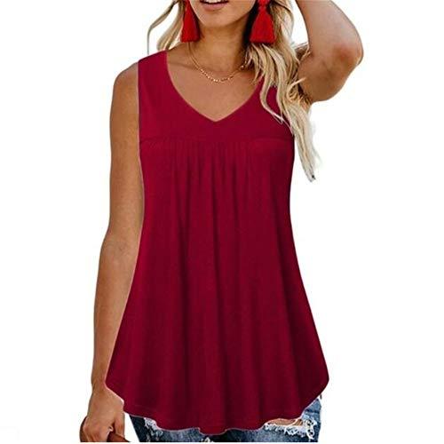 Sommer Freizeit HosenträGer Rundhalsausschnitt Einfarbig äRmellose Lose Kleine Weste T-Shirt Frauen