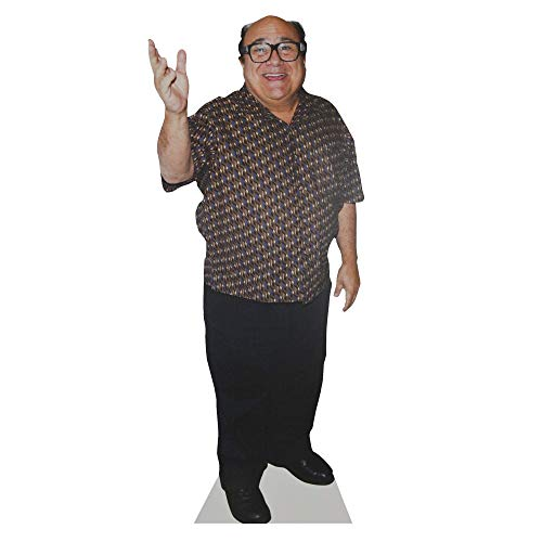 "Lifesize Danny Devito Cardboard Cutout | Fun Decoration Perfect for Parties, Events, and Photoshoots | Stands on its own and folds flat for easy storage | 4' 10"" tall just like Danny Devito (D2)"