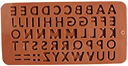 Thin ABC Alphabet Birthday Silicone Mold Candy Chocolate Mould Xmas Cake Maker,LODN046
