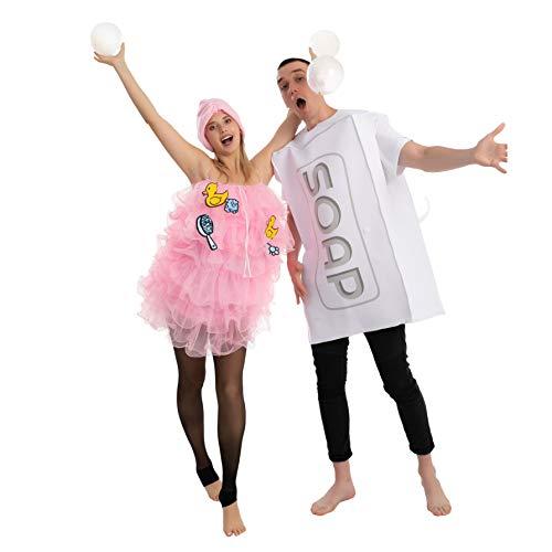 Spooktacular Creations Disfraz de Esponja de Lufa y Jabón para Grupos de Adultos o...