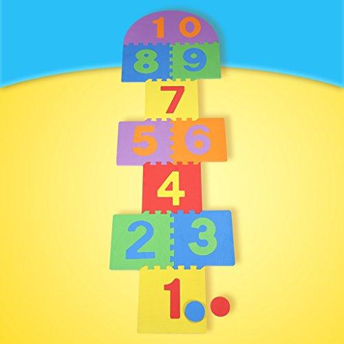 LINGZHIGAN Enfants Digital Pad Jeu Pad Environnement Inodore Bébé Puzzle Jouet PE Mousse D'épissage Tapis 30 * 30 cm-10 pcs