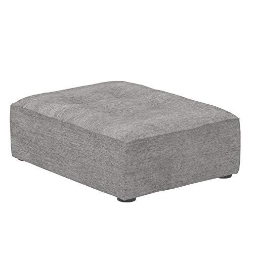 Marca Amazon -Alkove Elvas - Reposapiés de media altura para sofá modular, 70 x 93cm, gris