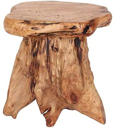 Solid Teak Table and Teak Root Stool Mini Mini Stool/Tables Ideal Stool/Plant Stand/Side Table,Wood