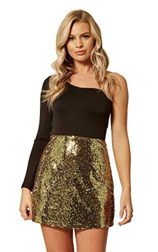 Minifalda de lentejuelas para mujer, de UNIQUE21