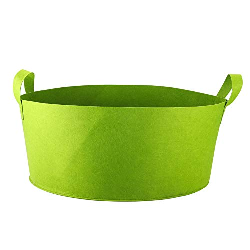 SH 60 Gallons Fabric Raised Garden Bed, Round Breathable Raised Planter Grow Bag with Handles Garden Bed Bag Plant Bed Planter Container for Herb Flower Vegetable Plants