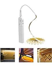 PDGROW Ledstrip, 3 m, waterdicht, 5 V USB-bewegingssensor, zelfklevend, voor keuken, kast, rek, warmwit, 1 stuk
