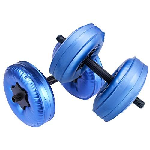 POHOVE Mancuernas llenas de agua ajustables y libres para viajes, pesas llenas de agua, pesas de hasta 60 – 80 libras para ejercicio, fitness, levantamiento de pesas, gimnasio en casa
