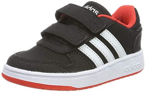 adidas Hoops 2.0 CMF I, Zapatillas Unisex niños, Negro (Core Black/Footwear White/Hi/Res Red 0), 26.5 EU
