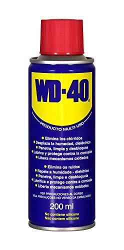 WD-40 Producto Multi-Uso - Spray 200ml. Lubrica, Afloja, Protege del óxido, Dieléctrico, Limpia metales y plásticos y Desplaza la humedad
