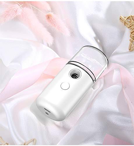Gesichtsdampfer, Gesichtssauna, Gesicht Dampf, Nano Ionic Gesichtsdampfer Warmer Nebel Gesicht Dampf Gesicht Handlicher Sauna SPA Gesichts-Befeuchter Sprühgerät