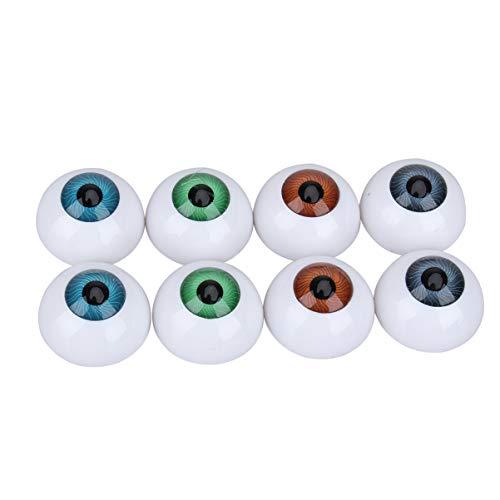 HEALLILY 4 Paia di 4 Colori Ovali per Bulbi Oculari per Bambole Vuoti per Occhi Acrilici per Bambola per Cucito Fai da Te Artigianato Burattino Bambola Orso Animali Farciti Giocattoli