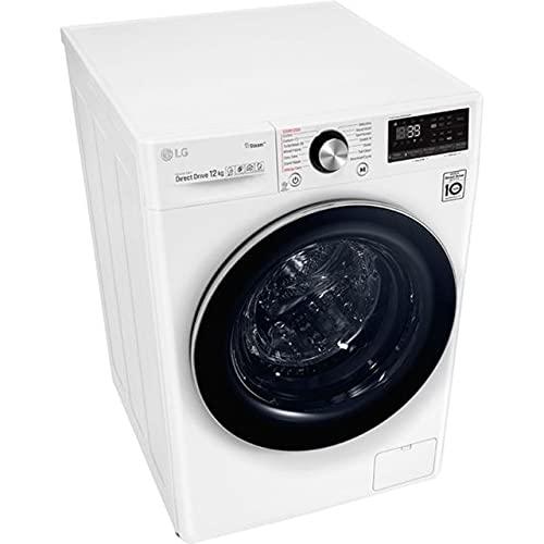 LG F4WV912P2 12kg Waschmaschine, 1400U/Min, 60cm breit, AI DD, 6 Motion, Aqua-Lock, Steam, TurboWash360°, weiß