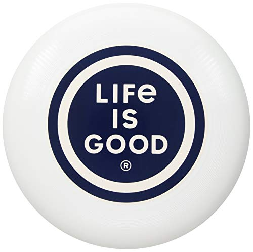 Life is Good Frisbee Disc, LIG Coin Cloud White, One Size