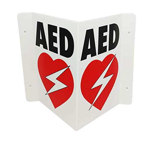 CPR Savers Foldable Panel AED Wall Sign for Business, School, Restaurant, Office or Any Public Place (1)