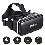 redstorm occhiali vr visore vr box 3d realtà virtuale video occhiali compatibile per smartphone apple android (nero)