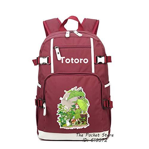 Twhoixi Mijn Buurman Totoro Geen Gezicht Masker Vrouwen Rugzak Canvas School Tassen Roze Boekentas Reistas Laptop Rugzak