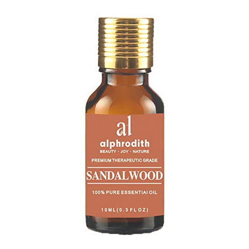 Premium Aromatherapy Indian Sandalwood Essential Oil 100% Organic Pure Undiluted Therapeutic Grade Scented Oils - 10ml for Diffuser, Relaxation, Skin Therapy & More (Indian Sandalwood, 10ml)