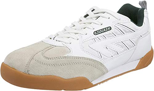 Hi-Tec Squash Classic , Chaussures squash et badminton hommes - Blanc (Blanc / Vert), 46 EU (12 UK)