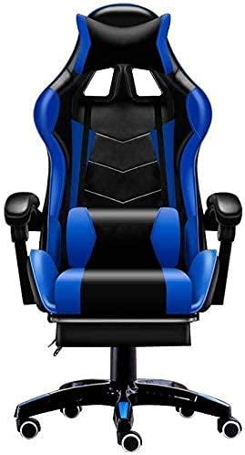 YUYTIN Sedia da Gioco del Massaggio, Sedia Videogioco reclinabile con bracciolo di Grandi Dimensioni Sedia da Gioco del Computer Posteriore Alto con poggiatesta e Supporto Lombare