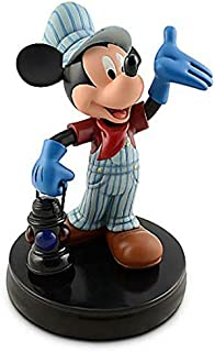 Disney Parks Train Engineer Mickey Mouse Medium Big Fig Figure Collectable Statue