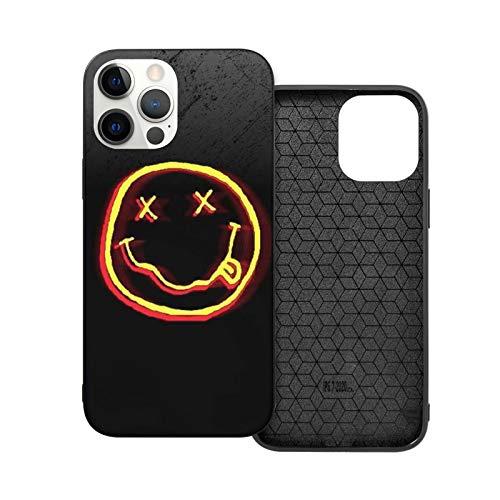 Compatibile con iPhone 12/11 PRO Max 12 Mini SE X/XS Max XR 8 7 6 6s Plus Custodie Nirvana Stickers Simpsons Disc Rock Band Nero Custodie per Telefoni Cover